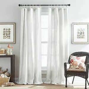 Seattle 84-Inch Tie Tab Window Curtain Panel White